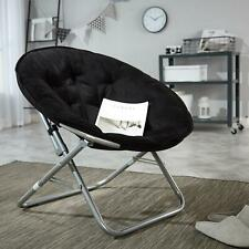 Oversized Chair Moon Stool Saucer Folding Living Room Microsuede/Multiple Colors