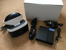Official Genuine Playstation 4 PS4 PS4VR PS VR Headset + Wires -- Boxed --