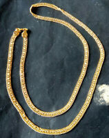 22K Gold Plated Indian 40'' total Long Chain High Quality Bridal Set Party ac
