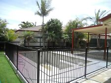 Flat Top pool fencing panels Black