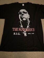 Vintage The Notorious B.I.G. Biggie Smalls Rap Tee Shirt Tupac Wu-Tang Nas Snoop