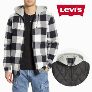 Levis Mens Reversible Hooded Flannel Zipper Jacket X Justin Timberlake 86186