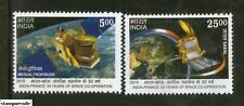INDIA 2015 India-France Joint Issue, Space Co-operation, MNH 2v set