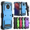 For Motorola Moto Z4/Play Case Hybrid Belt Clip Holster Hard Stand Phone Cover
