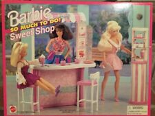 1995 Barbie So Much To Do Sweet Shop Playset*Mattel cupcake cake Cafe chair