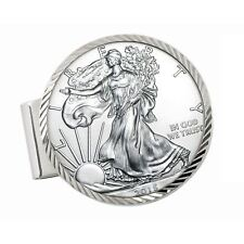 NEW Sterling Silver Coin Money Clip American Silver Eagle Dollar 13506