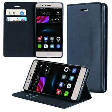 Huawei P9 Lite Coque de Protection Carte Portefeuille Housse Etui Cover Case Noi