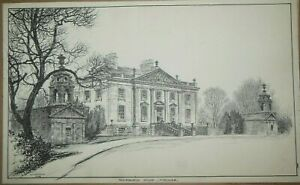 Original W H Caffyn Book Illustration (1928) Auchinleck House, Ayrshire Scotland