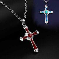 neue elegantes geschenk frauen mode cross - anhänger opal - kette kette schmuck