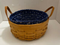 2003 Longaberger Large Round Basket Protector Liner 10x4in F