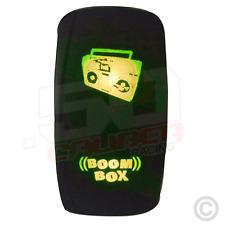 On/Off Rocker Switch Boom Box Radio Stereo Light Car Truck UTV Boat Sand Rail