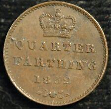More details for quarter farthing 1852 victoria  vf genuine (t112)