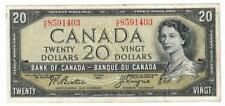 1954 BANK OF CANADA BANQUE DU CANADA $20 TWENTY DOLLAR NOTE CH AU PROBLEM FREE