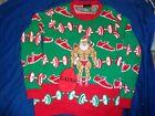 Blizzard Bay Adult Bodybuilder Santa Ugly Christmas Sweater Men Small
