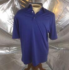 FOOTJOY FJ Mens Short Sleeve POLO GOLF Shirt Blue CONTRAST Collar Size Medium
