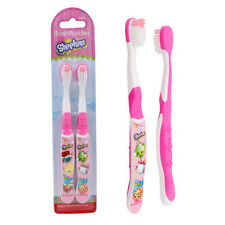 2pk Shopkins Food Kid Child Girl Soft Rounded Bristle Toothbrushes NIP