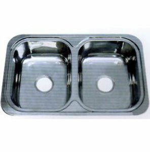 Double Bowl Sink / No Drainer