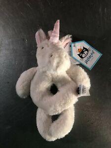 Jellycat Baby Rattle- White Unicorn- NWT