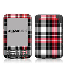 Kindle Keyboard Skin - Red Plaid - Sticker Decal