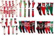 Damen-Socken aus Baumwollmischung mit Weihnachts-Muster keine Mehrstückpackung