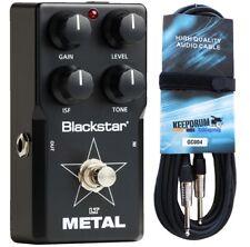Blackstar LT-metal efecto pedal F. e-guitarra + cable de guitarra 6m