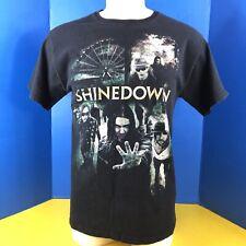 Shinedown Rock Alternative Grunge Band T Shirt US Tour 2010 Mens sz M Black s/s