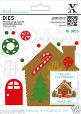 16 PC Die Casa De Pan De Jengibre Navidad Navidad uso Xcut o cualquier máquina de troquelado
