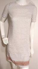 JAEGER BOUTIQUE casual tunic dress size XS Linen blend short sleeve white