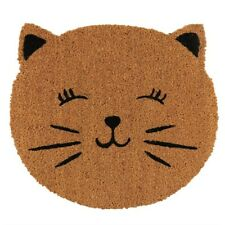 cat face doormat