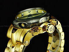 Invicta Men 52mm Swiss Venom Collection Z60 Chrono 18K Gold Tone SS Diver Watch