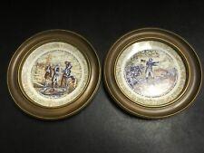 Lot Set 2 Vintage D'Arceau Limoges First Edition Plates George Washington 1777