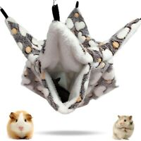 Ferret Rat Squirrel Pet Bird Hamster Hammock Hanging Cage Nest Bed House Toys ~