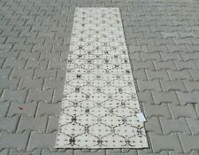 WHITE Turkish Hallway Runner 2x7ft Vintage Oushak Anatolian Handmade Wool Rug