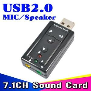 New lot of 10 virtual 7.1 CH. USB 2.0 external sound card adapter new