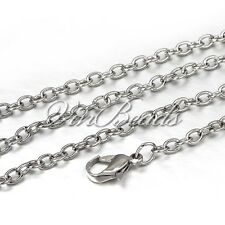 """12PCS 19"""" Silver Colour Chain For Floating Living Memory Locket Necklaces"""