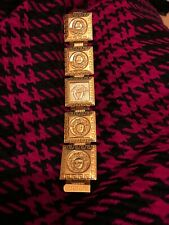 RARE Authentic Squared Gianni Versace Gold Plated MEDUSA Watch