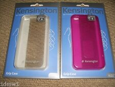 2 x IPHONE 4 PROTECTIVE GRIP CASE COVERS in Pink & Clear BRAND NEW! Kensington