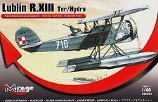 LUBLIN R XIII TER/HYDRO - WW II POLISH FLOAT PLANE 1/48 MIRAGE (pzl)