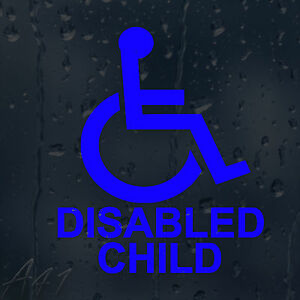 Wheelchair Disabled Child Car Windscreen Body Panel Wall Decal Vinyl Sticker