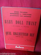 GERONIMO e i SOLITARI GINO PRANDI Baby doll twist + Quel bigliettino blu 1962