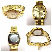 Wrist Watch Anchor Automatic 25 Jewellery Incabloc Gold Plated Men's Wristwatch