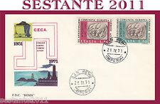 ITALIA FDC ROMA C.E.C.A. COMUNITà EUROPEA CARBONE ACCIAIO 1971 A. SAN REMO  G307