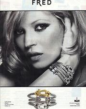 PUBLICITE ADVERTISING  2010    KATE MOSS  porte la collection FORCE 10 de FRED
