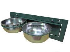 AVF-572 Bird Feed Swivel Tray Cups Chook Chicken Coop Seed Dispenser Cage Aviary