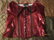 "Lip Service 38-86 Double Zip ""Sleeping Beauty"" PVC Corset (XL) Red"