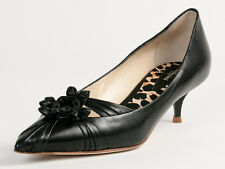 New  Baldinini Black Leather Made in Italy  Pumps Size 40 US 10