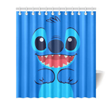 Custom Lilo and Stitch Polyester Fabric Waterproof Shower Curtain 66x72 Inch
