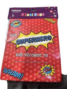 Super Hero Pk8 Party Loot Bags