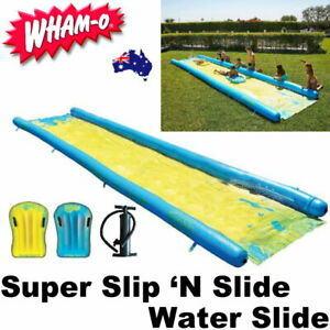 WHAM-O Super Slip 'N Slide Backyard Water Slide Side 790 cm w/ 2x Boogie Boards