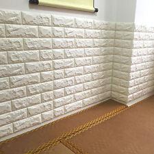 3D Tuile Brick étanche Autocollant Mural Mousse Panneau Papier peint 66 75cm